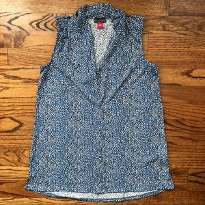 Blue Spotted Blouse
